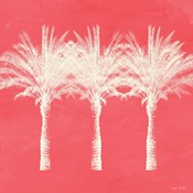 Coral and Ivory Palm Trees