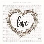 Old Rugged Heart Love Wreath