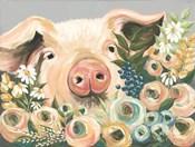 Pig in the Flower Garden