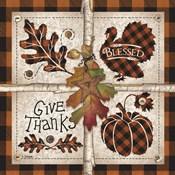 Autumn Four Square Give Thanks