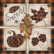 Autumn Four Square Grateful