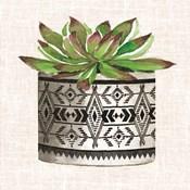 Cactus Mud Cloth Vase I