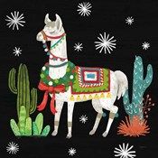 Lovely Llamas V Christmas Black