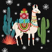 Lovely Llamas II Christmas Black