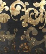 Grungy Gold Damask
