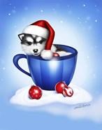 Christmas Coffee Dog
