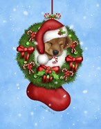 Christmas Stocking Puppy