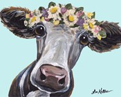 Cow Cora Flower Crown Blue