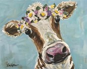 Cow Miss Moo Moo Turquoise Flower Crown