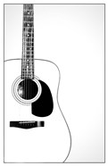 Black and White Classic Guitar,