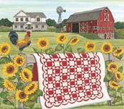 Red & White Farm Quilt